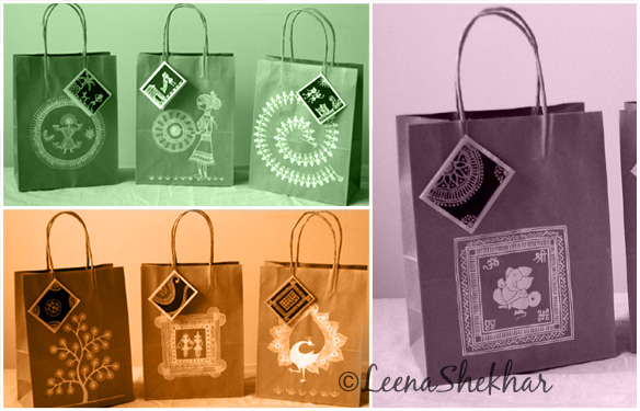 Different designs for paper bags