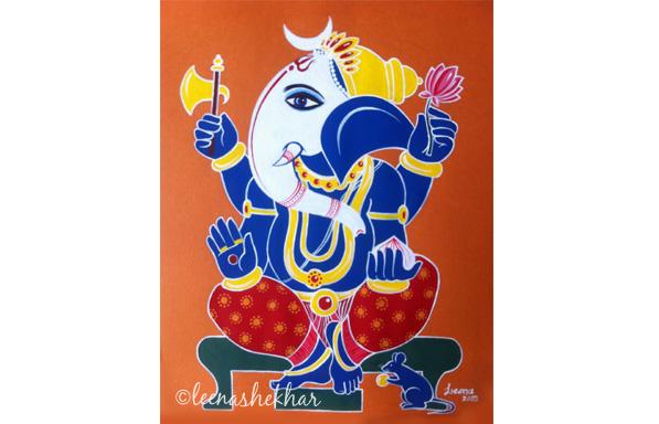 Batic Style Ganesh